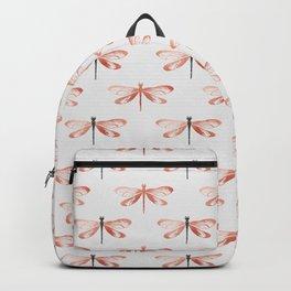 Rose Gold Dragonfly Backpack