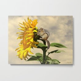 Waiting for the Sunflower Metal Print