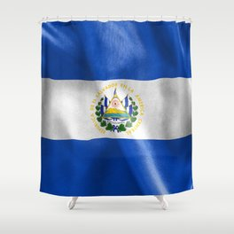 El Salvador Flag Shower Curtain