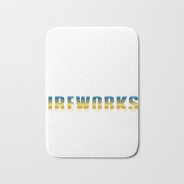 Eat Sleep Fireworks Repeat Happy New Year 2020 January 1st Fireworks Merry Christmas Xmas T-shirt Bath Mat