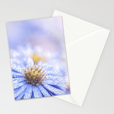 Blue Aster in LOVE - Flowers Flower Floral Stationery Cards