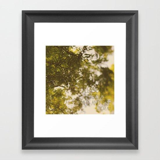 All Good Things Framed Art Print