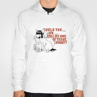 pulp fiction Hoodies featuring Fox by LullaBy D