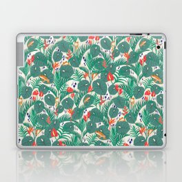 Tropical Frogs in the Jungle - Cream Laptop & iPad Skin