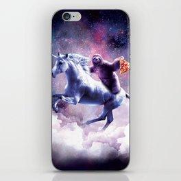 Space Sloth On Unicorn - Sloth Pizza iPhone Skin