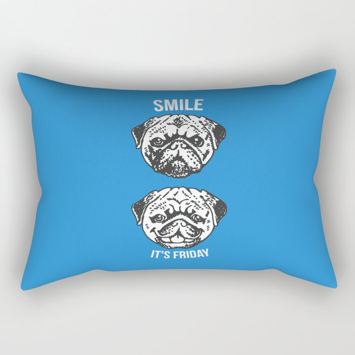 Smile It's Friday! Rectangular Pillow