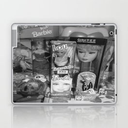 #BarbieLou with tomodachi b/w Laptop & iPad Skin