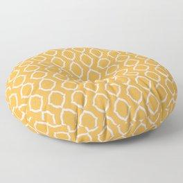 High Resolution Geometric Yellow Paper Floor Pillow