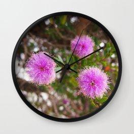 Purple Blossom Wall Clock