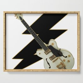 White Gretsch Guitar Serving Tray