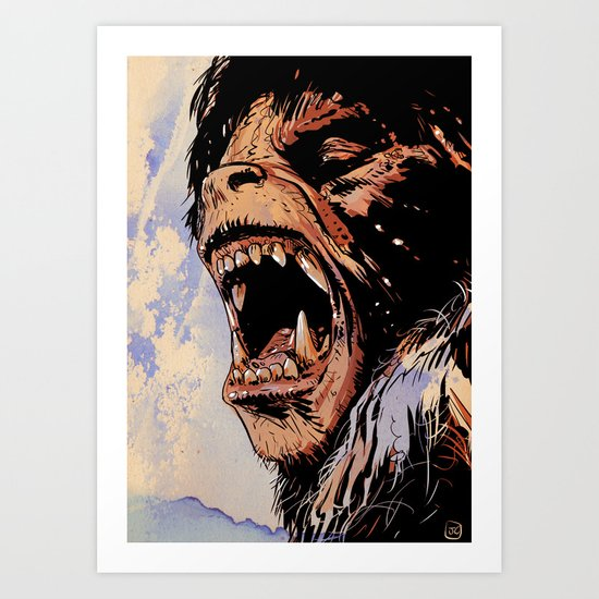 an american werewolf in london Art Print