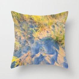 Beach Grass Paintings Throw Pillow