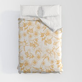 Aesthetic and simple bees pattern Comforters