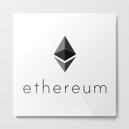 Ethereum | Cryptocurrency Lovers Gift Metal Print