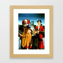 PENNYWISE IN MARY POPPINS Framed Art Print