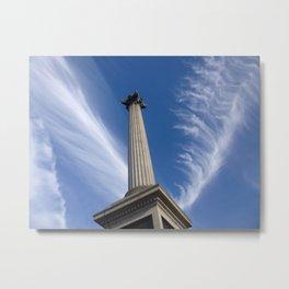 Sky Above Trafalgar Square Metal Print