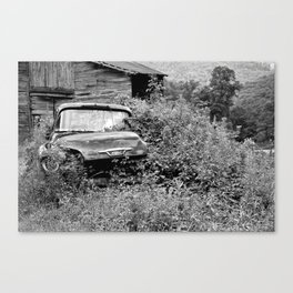 black and white Truck it all Canvas Print