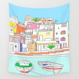 Italy Seaside Town And Beach - Ischia Island Wall Tapestry