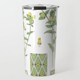 Rhinanthus Crista - Galli, Common Yellow Rattle Flower Travel Mug