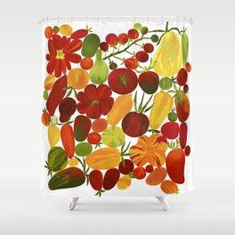 Whimsical Fruit Salad Shower Curtain