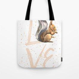 Love Squirrel Tote Bag