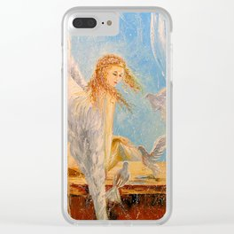 Light angel Clear iPhone Case