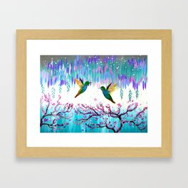 Hummingbirds in the Storm Framed Art Print