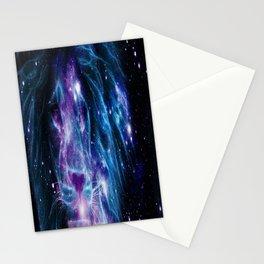 Leo Galaxy Lion : Purple Blue Stationery Cards