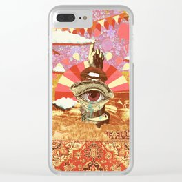 AFTERNOON PSYCHEDELIA REDUX Clear iPhone Case