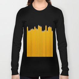 Pencil row / 3D render of very long pencils Long Sleeve T-shirt