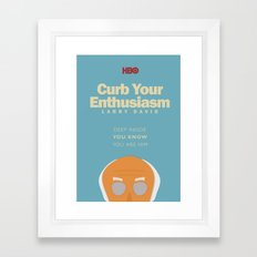 Curb Your Enthusiasm - Hbo tv Show with Larry David - Poster Framed Art Print