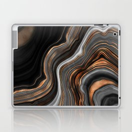 Glowing Marble Waves  Laptop & iPad Skin