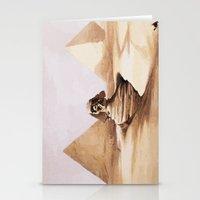 egypt Stationery Cards featuring Dark egypt by Tony Vazquez