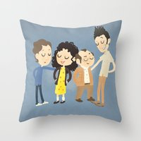 seinfeld Throw Pillows featuring My Seinfeld Fantasy by Vera van Groos