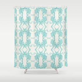 Blue Octacluar Octopus Shower Curtain