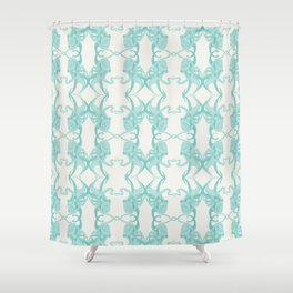 Blue Octacluar Octopus Shower Curtain