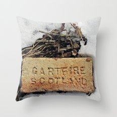Brick in the Snow Throw Pillow