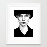 nico di angelo Framed Art Prints featuring Nico by Agnès KR Patience