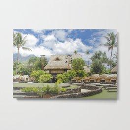 Hawaiian Style Lāhainā Maui Hawaii Metal Print