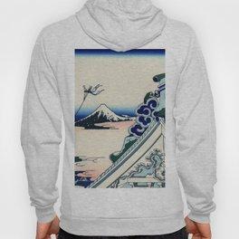 """Hokusai (1760-1849) """"Asakusa Hongan-ji temple in the Eastern capital [Edo]"""" Hoody"""