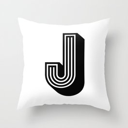 Letter J Throw Pillow