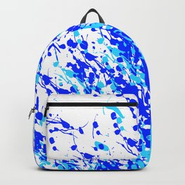 Splash and Drip Art Blue Backpack