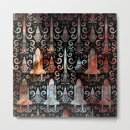 Rocket Science Damask Metal Print