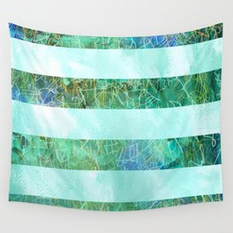 Turquoise Stripes Wall Tapestry