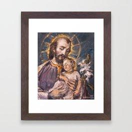 St. Joseph Framed Art Print