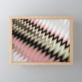 Scandinavian Zig Zags Framed Mini Art Print