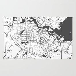 Amsterdam White on Gray Street Map Rug