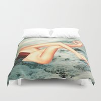 camp Duvet Covers featuring Camp by Erin Case