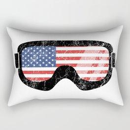 American Goggles - Distressed Black   Goggle Designs   DopeyArt Rectangular Pillow