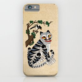 Minhwa: Tiger and Magpie B Type iPhone Case